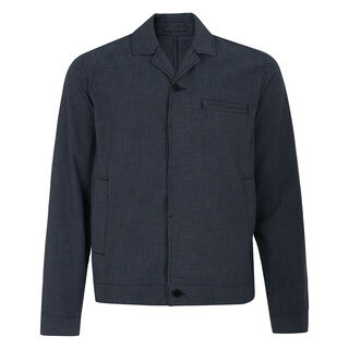 Micro Check Battle Jacket, in Navy on Whistles