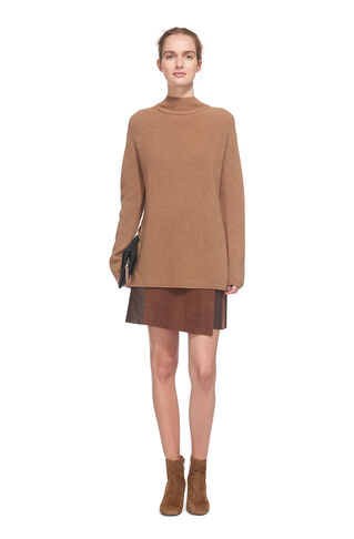 Anderson Split Sided Sweater, in Camel on Whistles