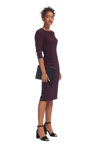 Textured Izzey Bodycon, in Fig on Whistles