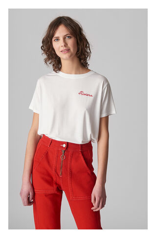 Riviera Tshirt, in White on Whistles