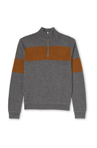 Zip Through Sporty Sweater, in Grey on Whistles