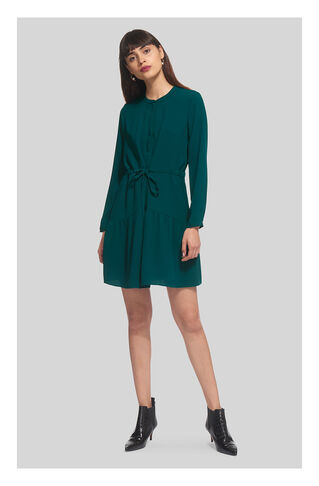 Cynthia Tie Waist Dress, in Green on Whistles
