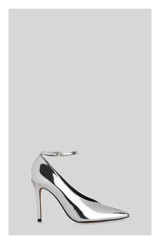 Compton Stud Ankle Strap Pump, in Silver on Whistles