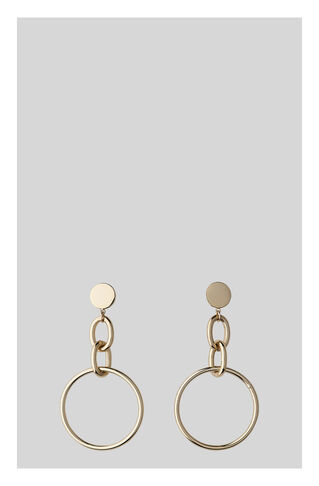 Chain Drop Hoop Earring, in Gold on Whistles