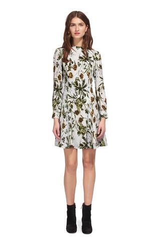 Marina Silk Flippy Dress, in Multicolour on Whistles