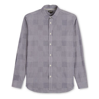 Patchwork Gingham Shirt, in Navy on Whistles
