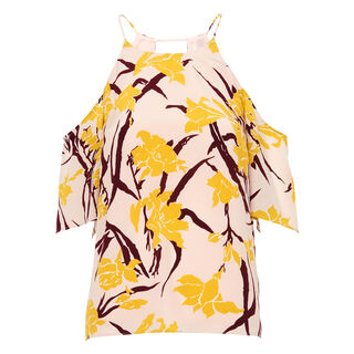 Lilly Print Cold Shoulder Top, in Multicolour on Whistles
