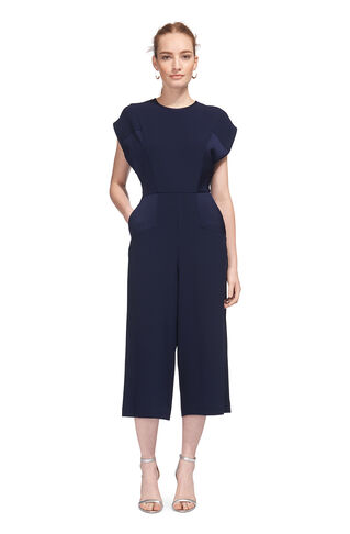 Jasmine Cut Out Jumpsuit, in Navy on Whistles