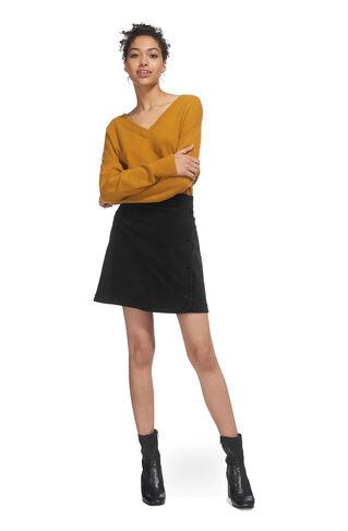 Corduroy Popper Skirt, in Black on Whistles