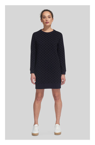 Flocked Spot Sweat Dress, in Navy/Multi on Whistles