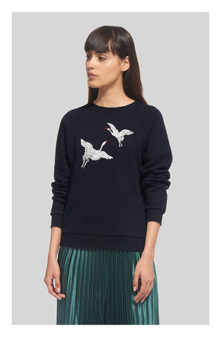 Crane Embroidered Sweatshirt, in Navy on Whistles