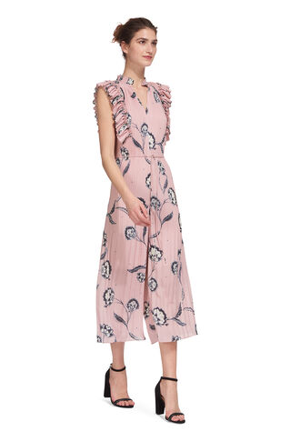 Giselle Ruffle Jumpsuit, in Pink/Multi on Whistles