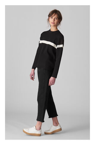 High Waist Barrel Leg Jean, in Black on Whistles