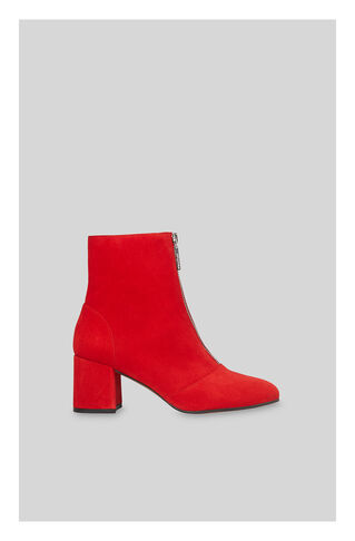 Rowan Zip Front Suede Boot, in Red on Whistles