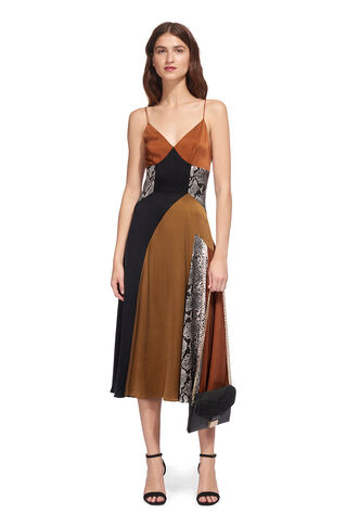 Dallaway Silk Strappy Dress, in Multicolour on Whistles