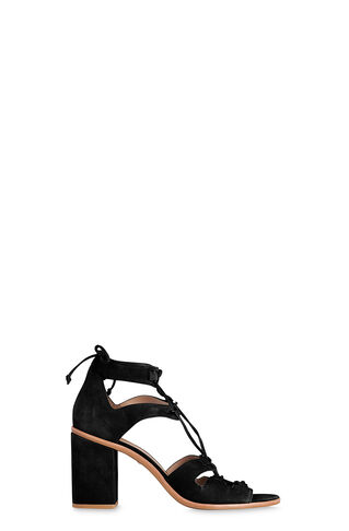 Novara D-Ring High Sandal, in Black on Whistles