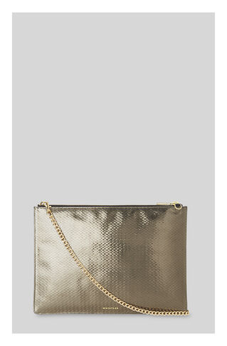 Textured Rivington Clutch, in Pewter on Whistles
