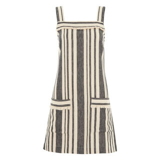 Cici Stripe Dress, in Cream/Multi on Whistles