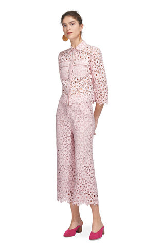 Lia Daisy Lace Trouser, in Pale Pink on Whistles