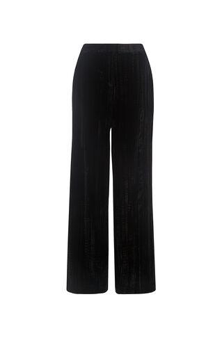 Crushed Velvet Trouser, in Black on Whistles