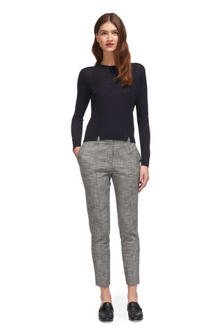 Check Slim Trouser, in Grey on Whistles