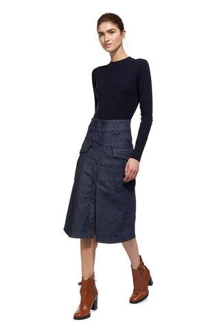 Lucie Utility Skirt, in Denim on Whistles