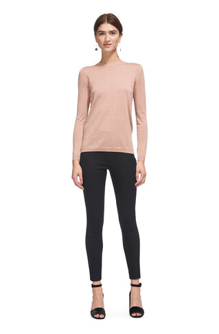Sparkle Crew Neck Knit, in Pale Pink on Whistles