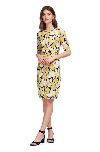 Phoebe Lemon Print Bodycon, in Yellow/Multi on Whistles
