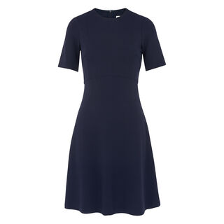 Ponti Panelled Dress, in Navy on Whistles