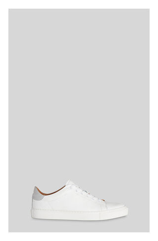 Low Top Textured Trainers, in White on Whistles
