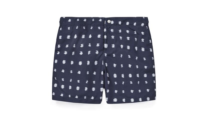 Ikat Print Swim Short, in Navy on Whistles