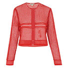 Lace Button Up Jacket, in Coral on Whistles