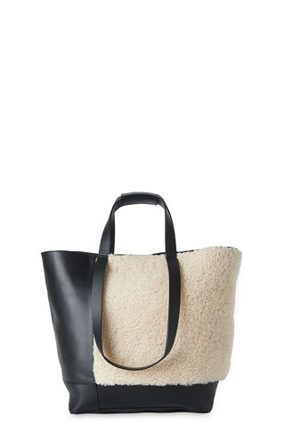 Hampson Shearling Tote, in Cream/Multi on Whistles