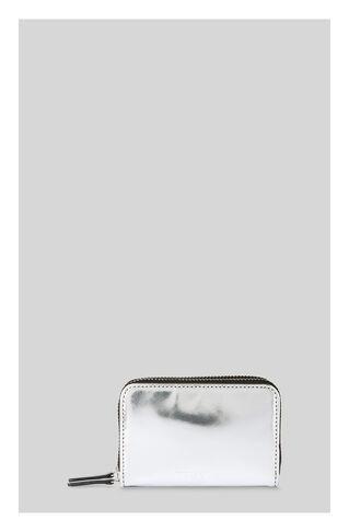 Mirror Metallic Double Purse, in Silver on Whistles