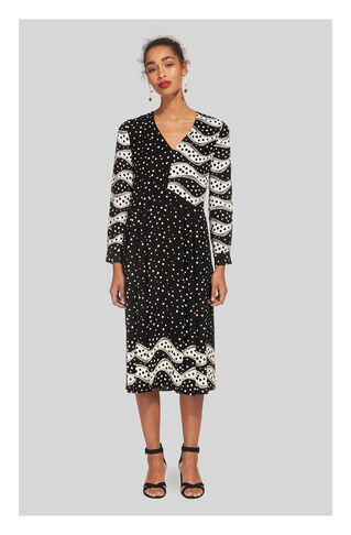 Mix And Match Spot Print Dress, in Black and White on Whistles