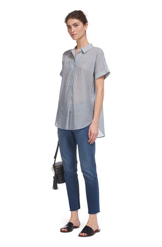 Ellen Pinstripe Casual Shirt, in Blue/Multi on Whistles