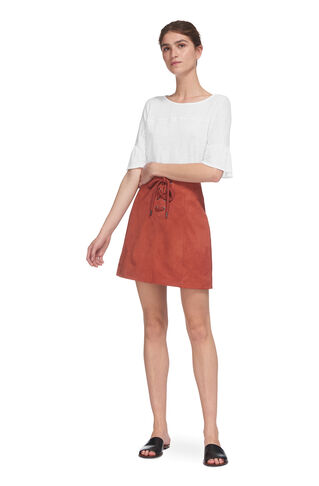 Frill Cuff Linen Tee, in White on Whistles