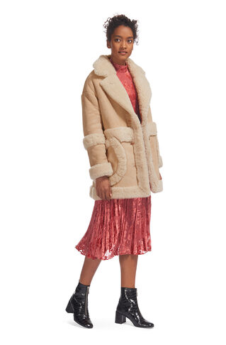 Gilder Sheepskin Jacket, in Beige on Whistles
