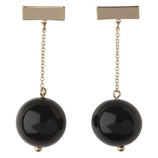 Sphere Chain Drop Earring, in Black/Multi on Whistles