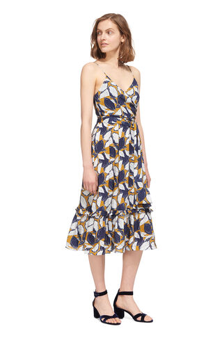 Lemon Print Strappy Dress, in Yellow/Multi on Whistles