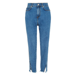 Split Front Straight Jean, in Denim on Whistles