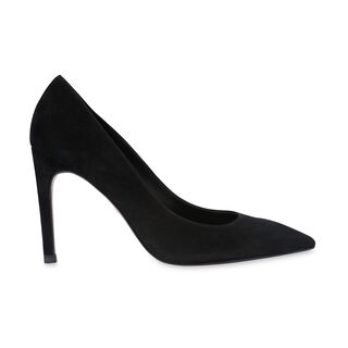 Cornel Suede Point Pump, in Black on Whistles
