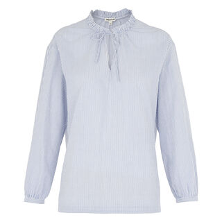 Relaxed Stripe Tie Neck Blouse, in Blue/White on Whistles