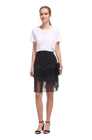Wave Tassle Skirt, in Black on Whistles