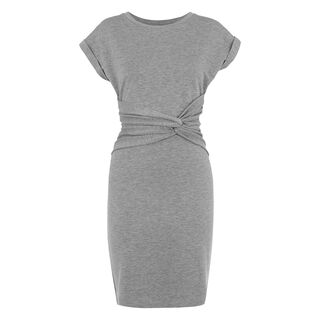 Anna Wrap Detail Dress, in Grey on Whistles