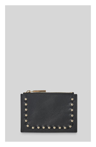 Studded Nappa Coin Purse, in Black on Whistles