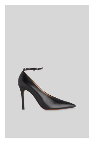 Compton Stud Ankle Strap Pump, in Black on Whistles