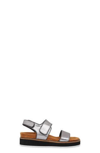 Keller Velcro Footbed Sandal, in Pewter on Whistles