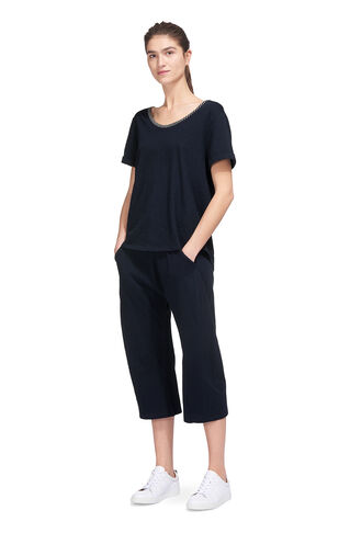 Cut Out Back Relaxed T-shirt, in Navy on Whistles
