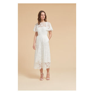 Victoria Lace Wedding Jumpsuit, in White on Whistles